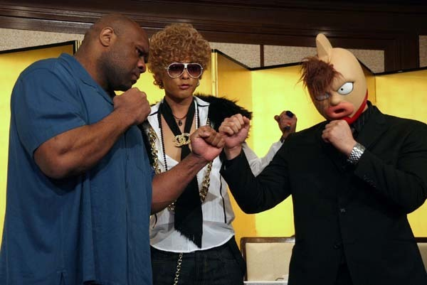 Bob Sapp is fightinga cartoon character.