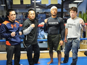 Kawajiri, Ishida, and Takaya at JB Sports Gym. - GBRing.com