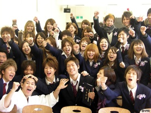 Happy Class With Yamada In The Middle.