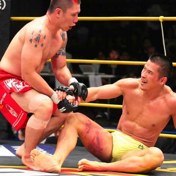 Chonan tortured Nakao with kicks - Sportsnavi.com